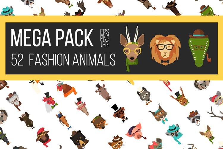Vector Fashion Animal Icons Big Bundle 52  example image 1