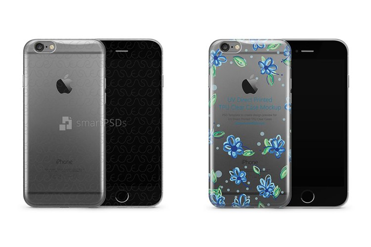 Apple iPhone 6-6S Plus UV TPU Clear Mobile Case Mockup 2015 example image 1