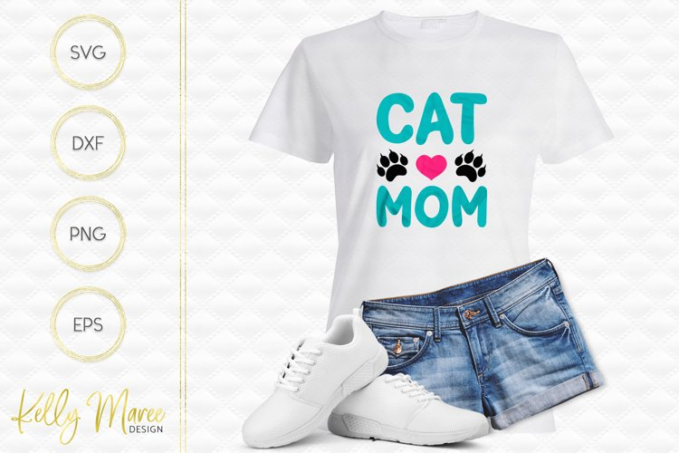Cat Mom SVG File example image 1