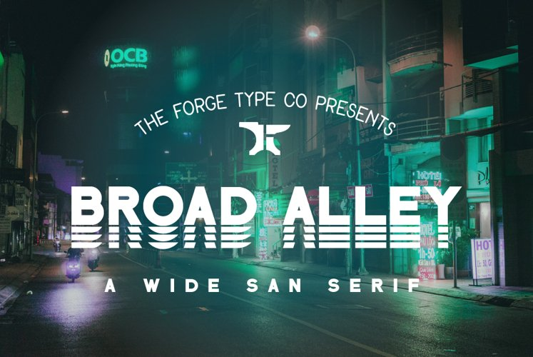 Broad Alley - A Wide San Serif Font !INTRO SALE!
