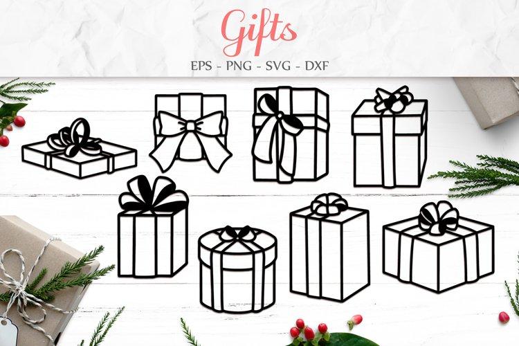 Christmas Gift Box, Merry Christmas Svg, Birthday Gift example image 1