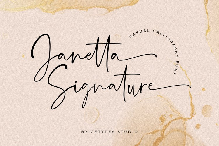 Janetta Signature | New Organic Font example image 1