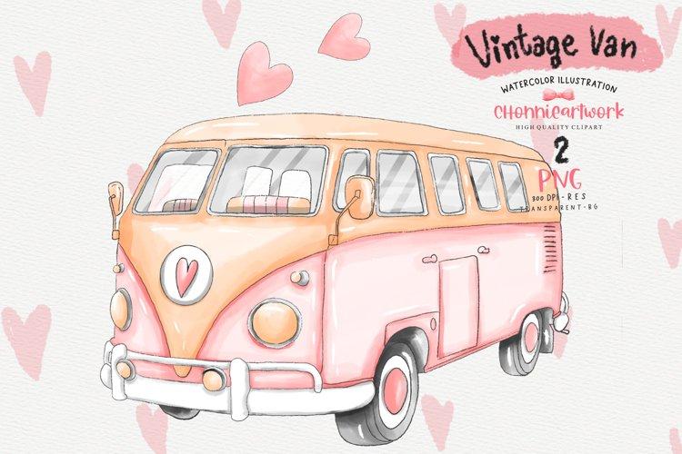Download Watercolor Pink Vintage Van Sublimation Designs 1163233 Illustrations Design Bundles