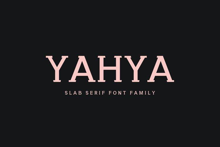 Yahya Slab Serif Font Family example image 1