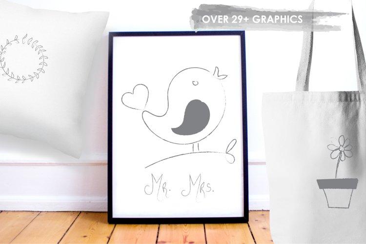 Chalkboard Doodles graphics and illustrations - Free Design of The Week Design3