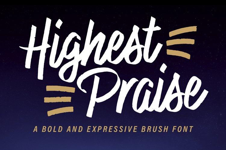 Highest Praise Font example image 1