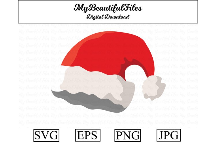 Christmas Hat SVG - Cute Christmas SVG, EPS, PNG and JPG