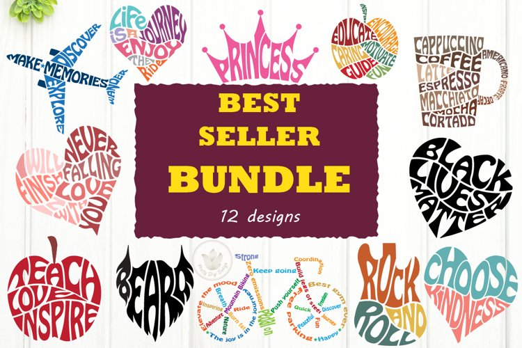 Best Seller Bundle, Svg cut files, lettering designs
