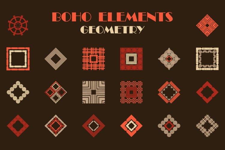 A set of BOHO elements. Geometry.