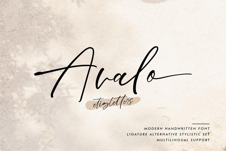 Avalo Handwritten Font example image 1