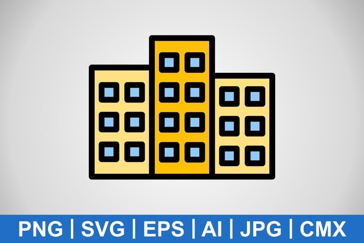 Vector Building Icon example image 1