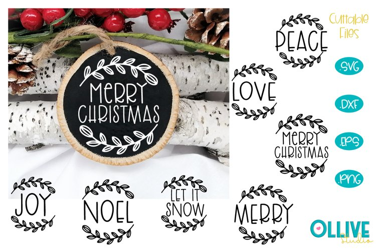 Christmas Ornaments Rounds Bundle SVG example image 1