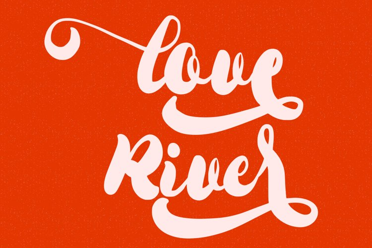 Love River Handwritten Script example image 1
