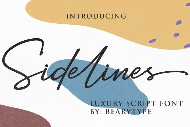 Sidelines // Luxury Signature Font example image 1