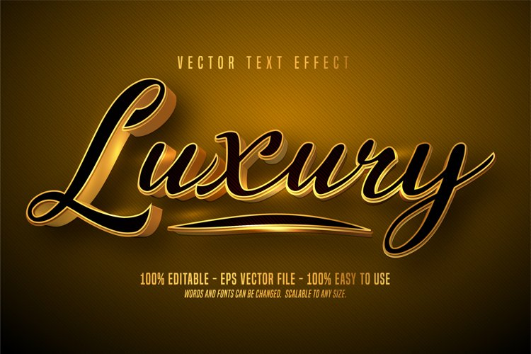 Luxury text, 3d editable text effect