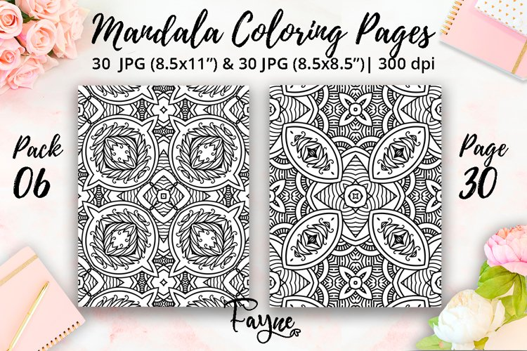 Adult coloring pages 06  Mandala abstract pattern