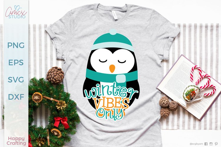 Winter Vibes Only - A Winter Penguin Craft File