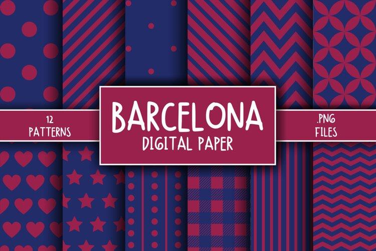 Barcelona Pattern Digital Paper