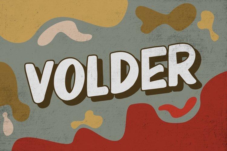 VOLDER Bold Fonts