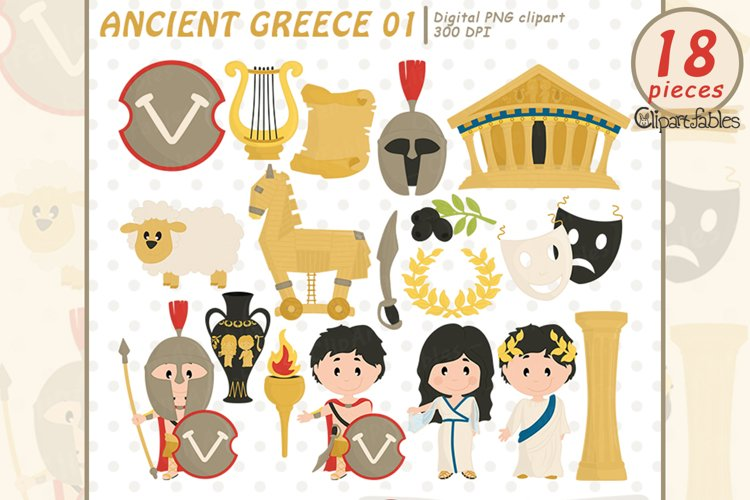 ANCIENT GREECE clipart, Travel clip art, Sparta - INSTANT example image 1
