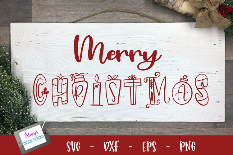 Christmas SVG - Merry Christmas ornamental