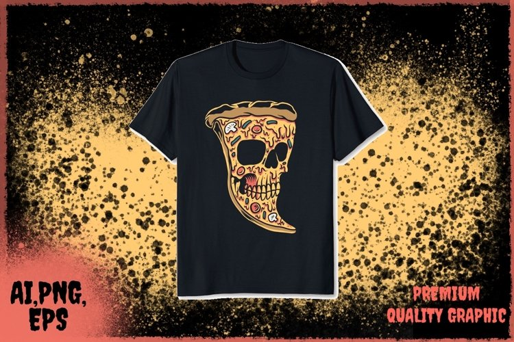 pizza skull vector example image 1