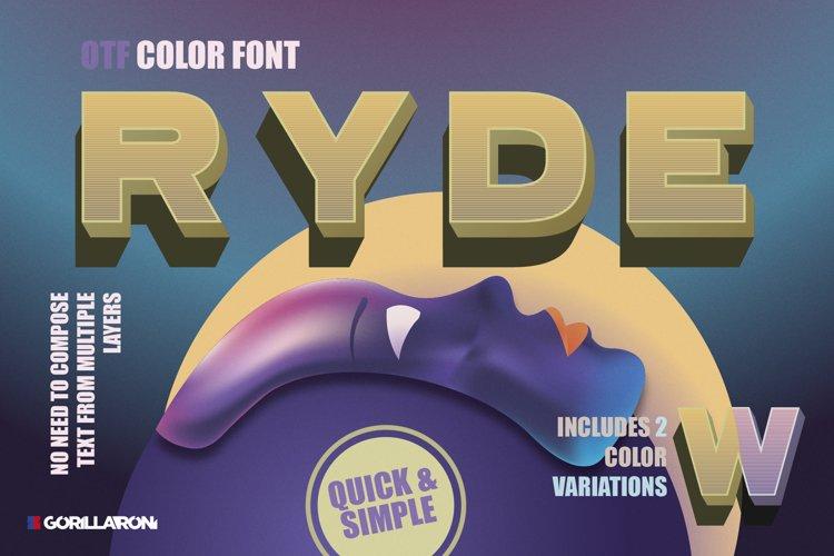 Ryde - sans serif color font example image 1