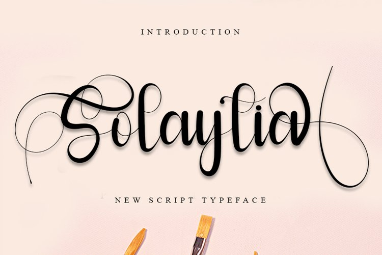 Solaytia | Modern Script Font example image 1