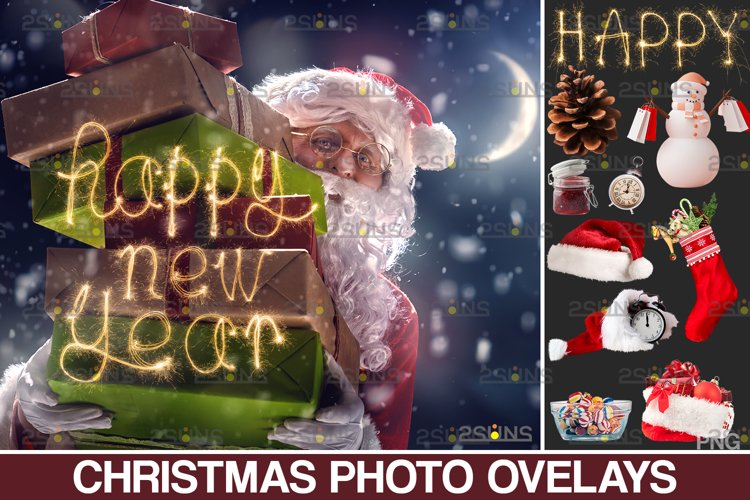 Christmas overlay & Sparkler overlay, Photoshop overlay example image 1