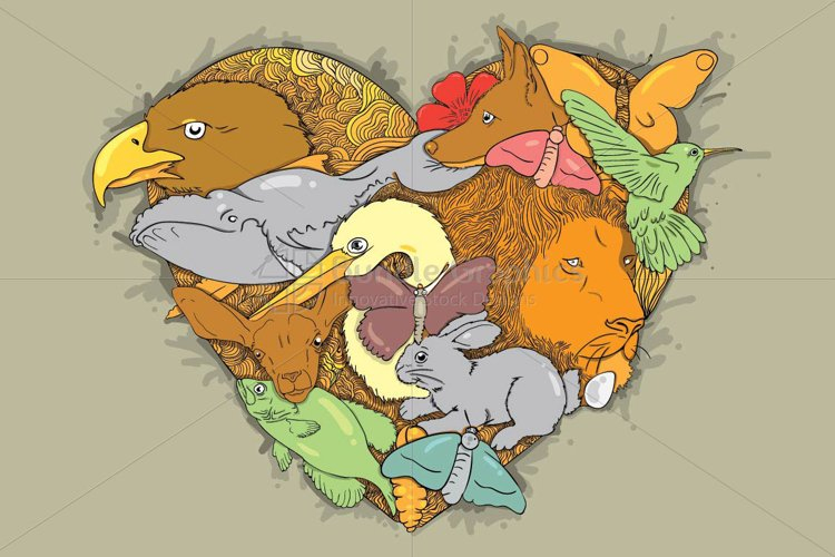 Wildlife Love - Creative Composition of Animals example image 1