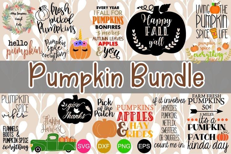 Pumpkin Bundle SVG, Dxf, Eps,Png 16 designs