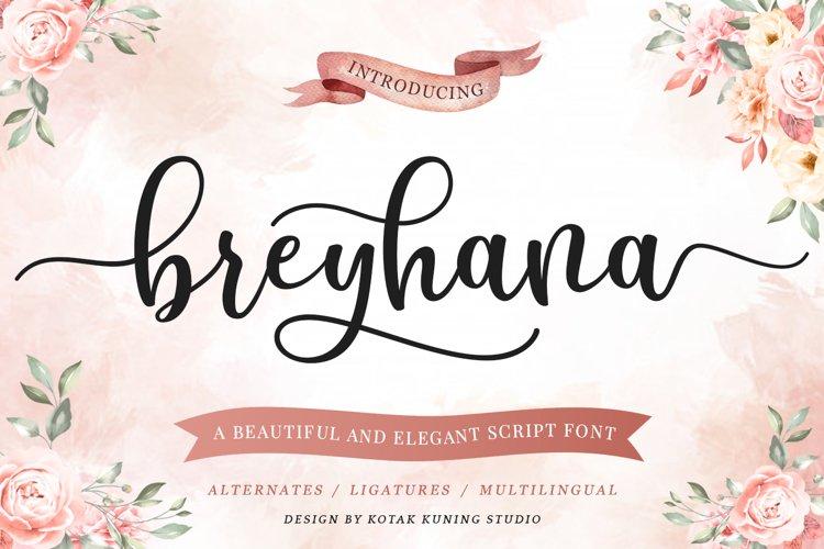 Modern Script - Breyhana Font example image 1