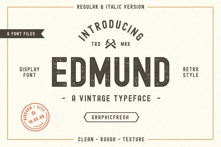 The Edmund - 6 Font Files example image 1