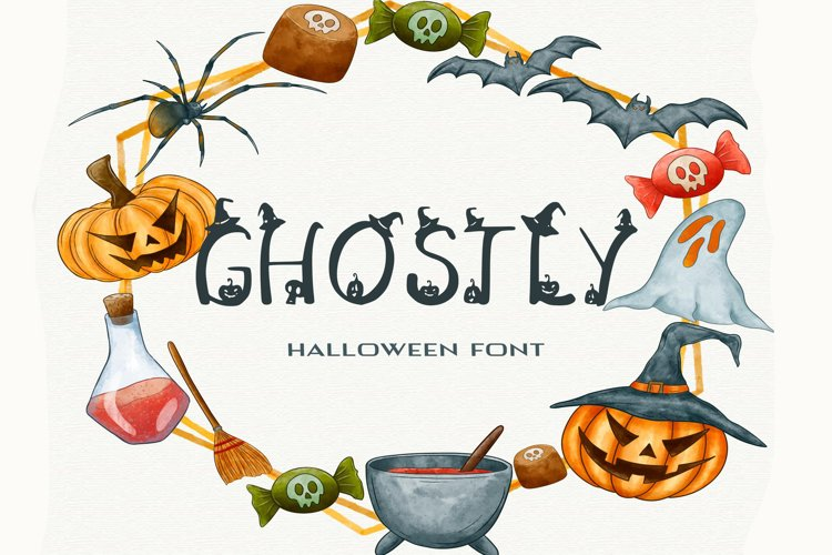 Ghostly Halloween Font example image 1