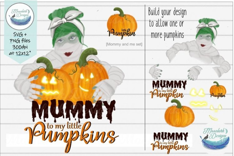 Mummy to my little Pumpkins   mommy & me  PNG sublimation example image 1