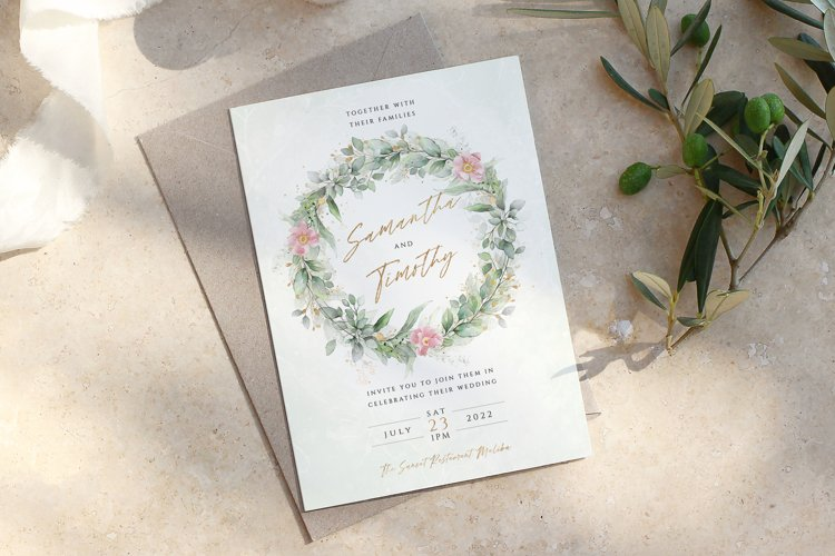 Eucalyptus Pink Floral Wedding Suite example image 1