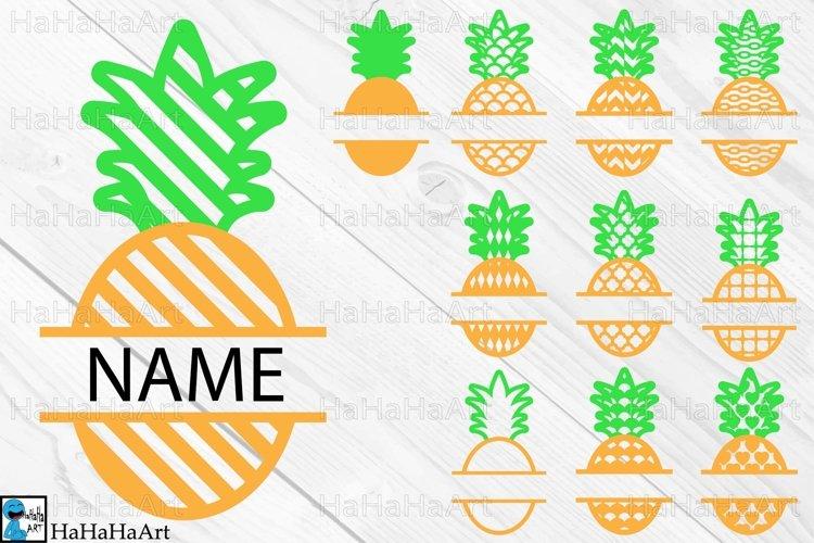 Split Pineapple Designs - Clip art / Cutting Files 1319c example image 1