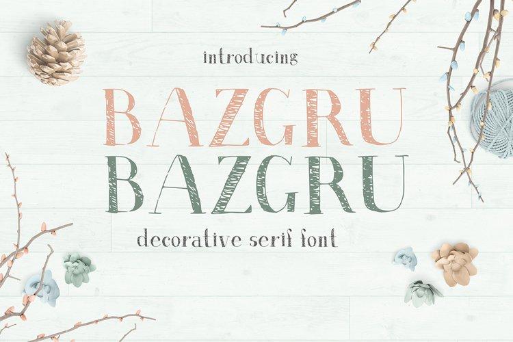 Bazgru Bazgru font example image 1