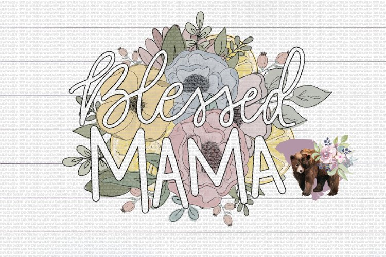 Blessed Mama PNG File / Sublimation Clipart File example image 1