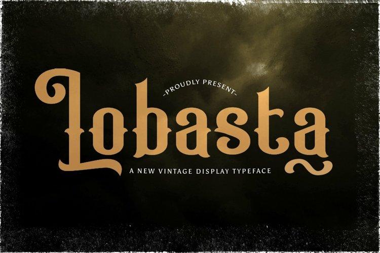 Web Font Lobasta example image 1