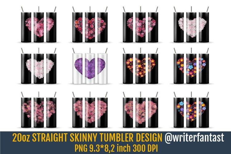 20 oz STRAIGHT Skinny Tumbler Sublimation. Valentines Day example image 1