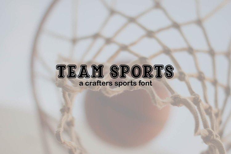 Team Sports Craft Font