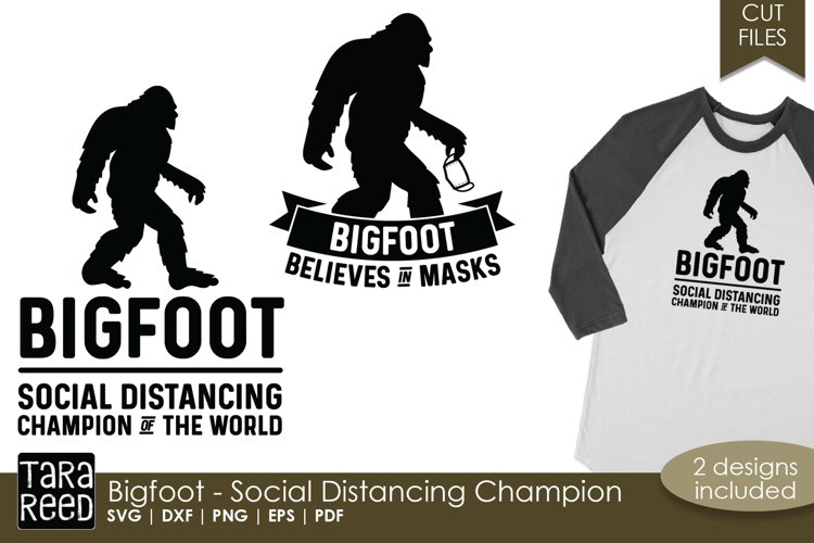 Bigfoot - Social Distancing Champion - SVG and Cut Files