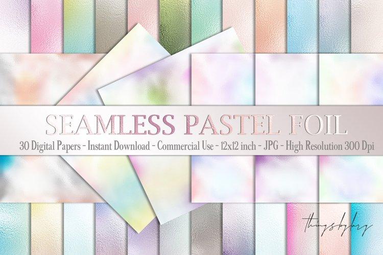 30 Seamless Ombre Pastel Metallic Foil Texture digital paper