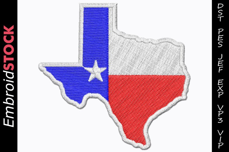 Texas State Flag Embroidery Design