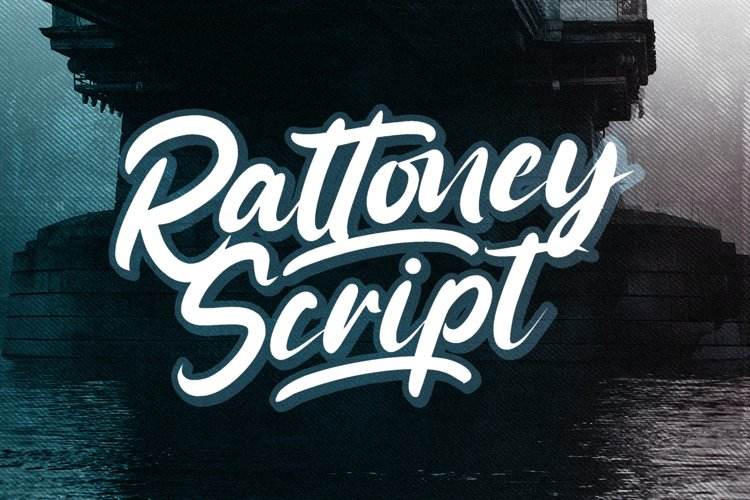 Rattoney - Bold Script Font example image 1