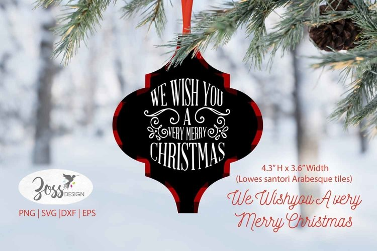 Arabesque Christmas SVG | We Wish You a Very Merry Christmas example image 1