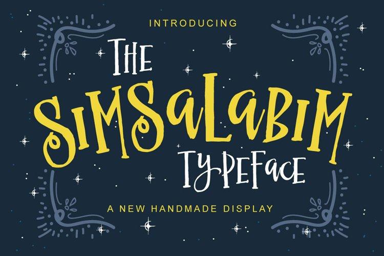 The Simsalabim Typeface