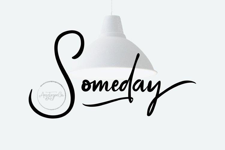 Someday | Handwritten Font example image 1