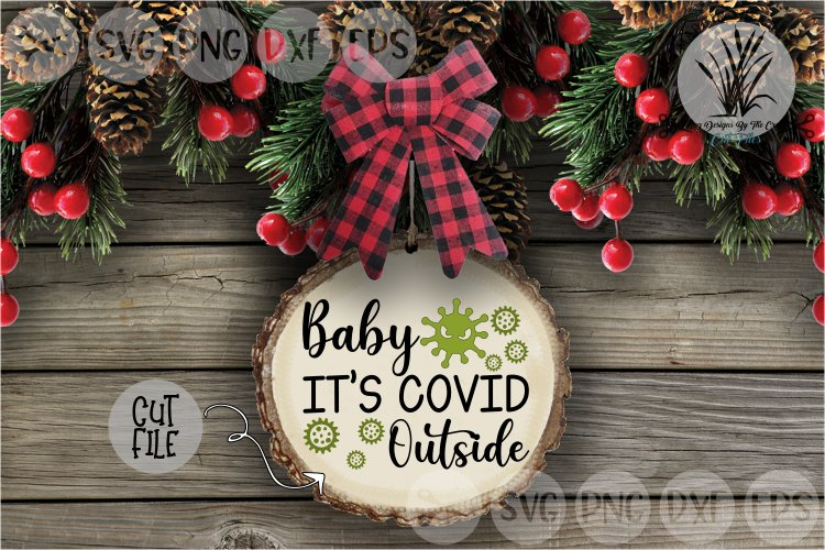 Baby Its Covid Outside, Cold, Winter Germs, Cut File, SVG example image 1